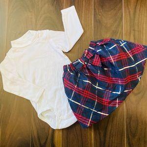 H&M Toddler Girl's Holiday Skirt Set